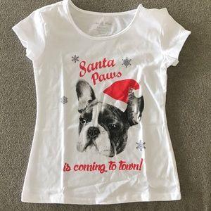 NWT Girls Christmas TShirt Size XXS(4-5)